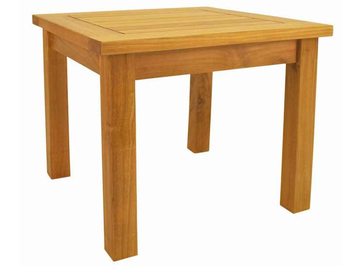 One of a kind Teak Bahama Square Mini Table Product Photo