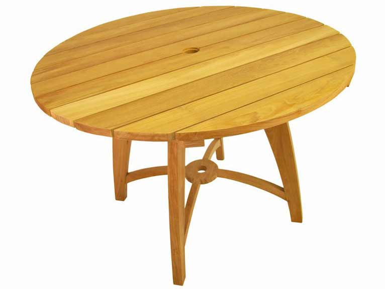 ... Teak 47 inch Florence Round Table  TB-120NF  Anderson Furniture