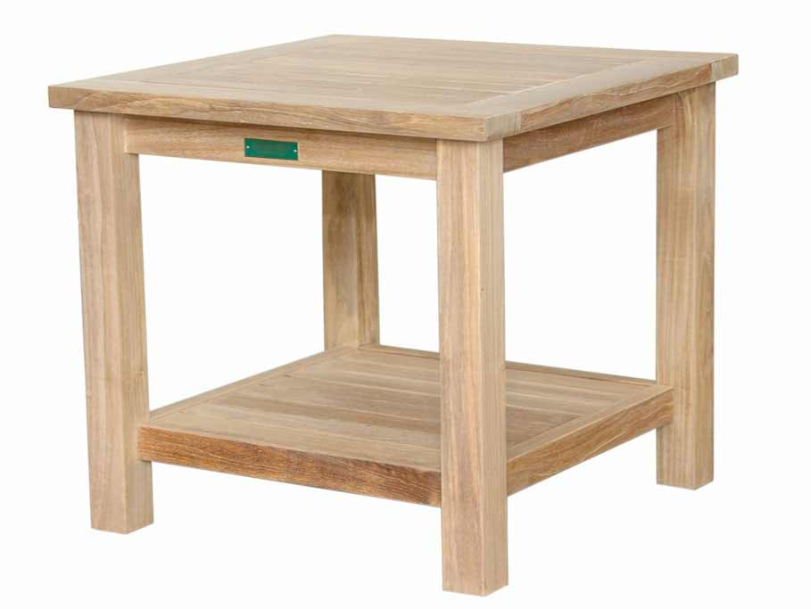 Teak Square Tier Side Table 2456