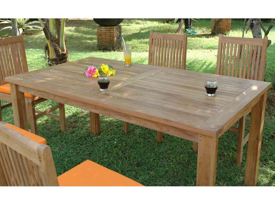 Choose Teak Montage Rectangular Dining Table 9 174