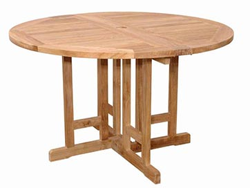 Anderson Teak 47 inch Butterfly Round Folding Table