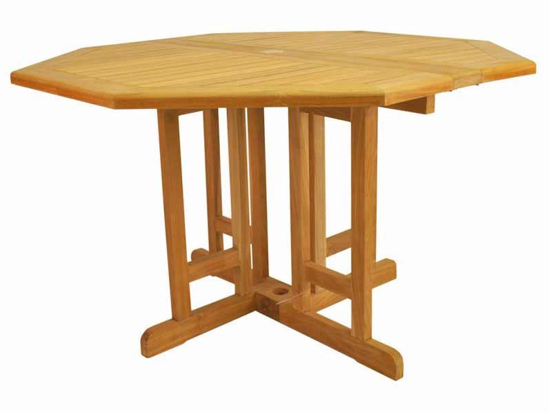 New Teak Butterfly Octagonal Folding Table 19 615