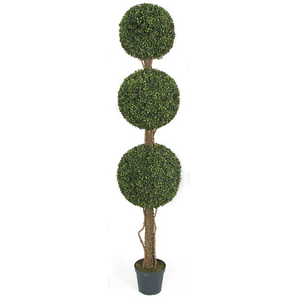 Choose Artificial Outdoor Boxwood Triple Ball Topiary Potted 8 2475