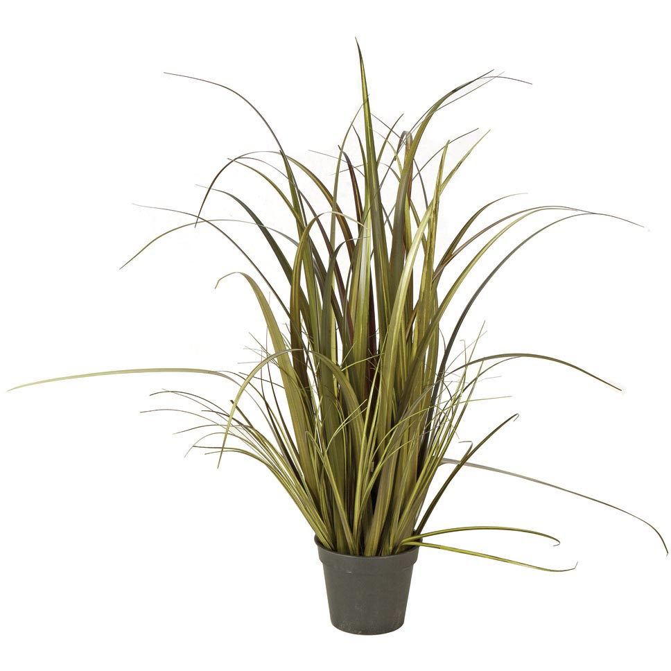 28 Inch Dark Green Fire Retardant Pvc Grass Bush: Potted