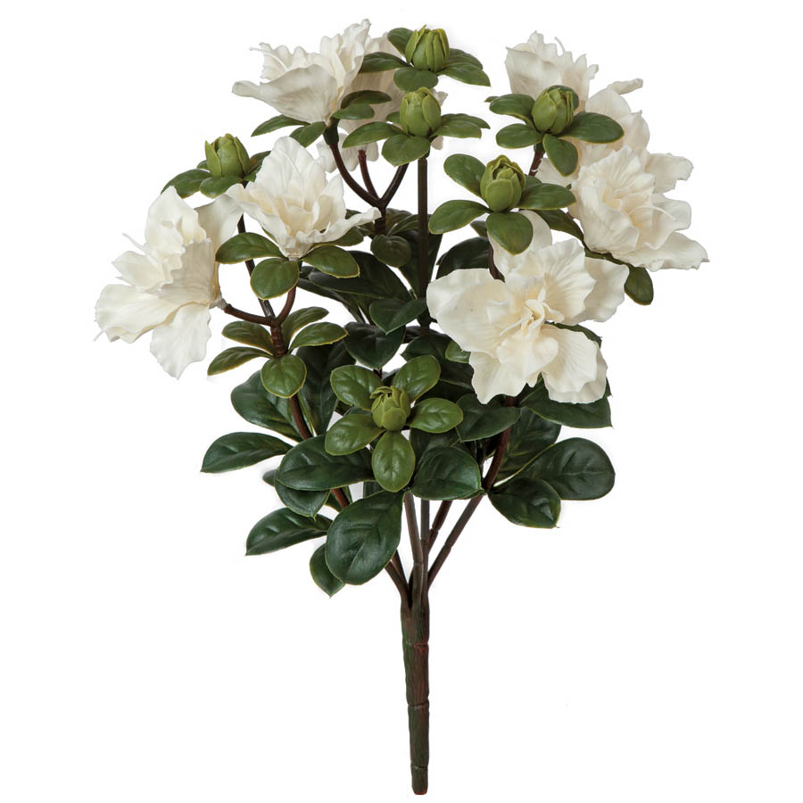 14 inch outdoor artificial white azalea bush unpotted a 144155 closeup image mightylinksfo Images