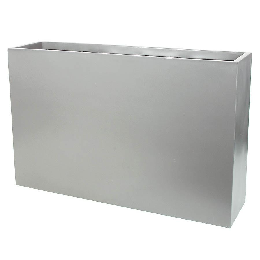 Choose Silver Fiberglass Rectangular Planter Inside Dia  11 2266