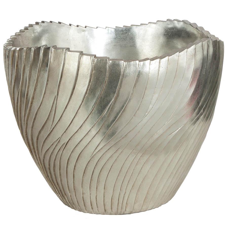 High-class H Brushed Silver Fiberglass Bowl Inside Dia  Product Photo