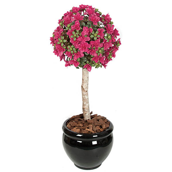 Impressive Beauty-Outdoor-Artificial-Azalea-Ball-Topiary-Potted Product Image 1272