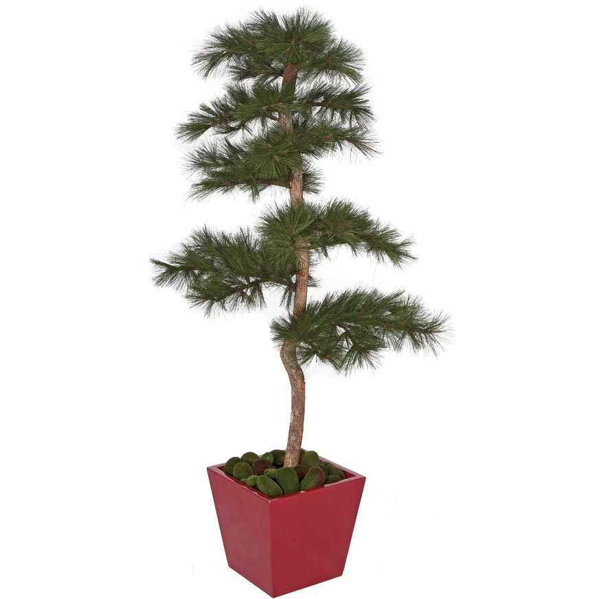 Ultimate Fire Retardant Pvc Needle Pine Tree Natural Trunks Potted 19 1558