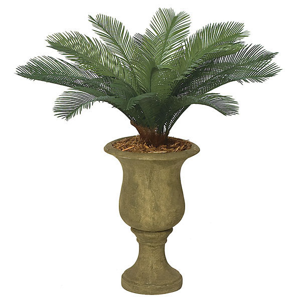 3 foot Outdoor Artificial Cycas Palm Cluster with 18 Fronds A-0018