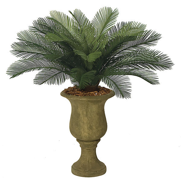 3 foot Outdoor Artificial Cycas Palm Cluster with 24 Fronds A-0024