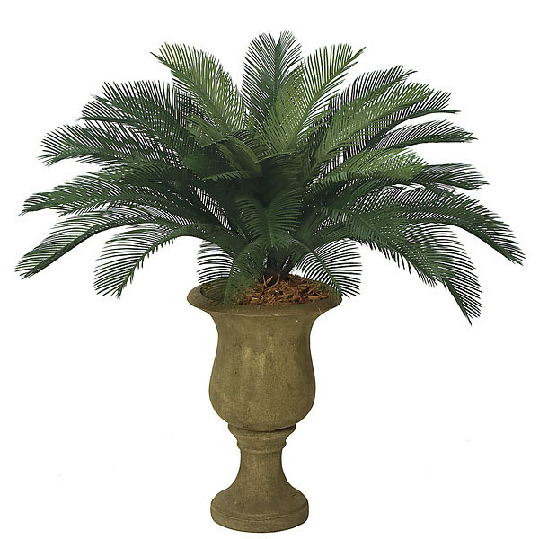 3 foot outdoor artificial cycas palm cluster with 36 fronds a 0036. Black Bedroom Furniture Sets. Home Design Ideas