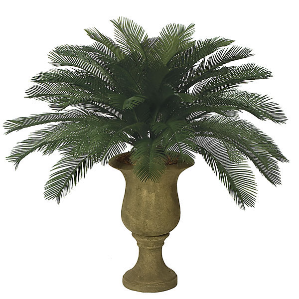 3 foot Outdoor Artificial Cycas Palm Cluster with 48 Fronds A-0048