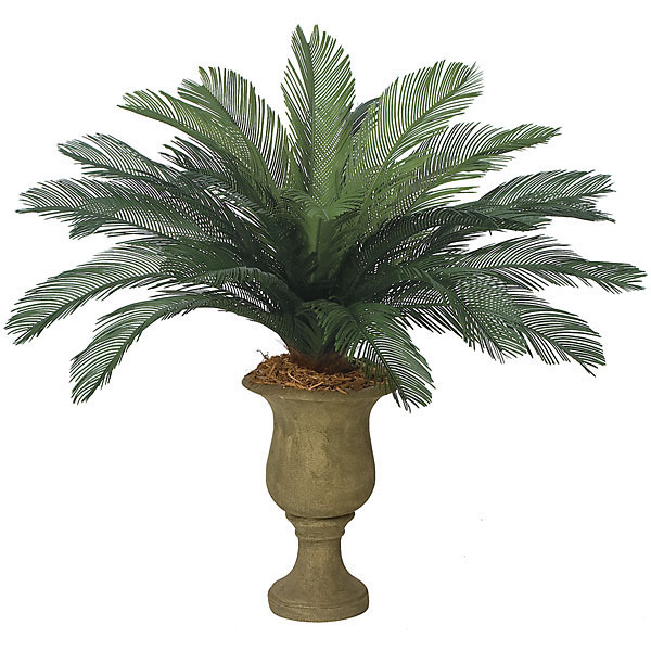 44 inch Outdoor Artificial Cycas Palm Cluster with 24 Fronds A-0080