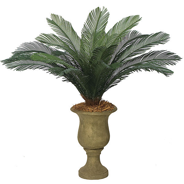 44 inch Outdoor Artificial Cycas Palm Cluster with 18 Fronds - OVERSTOCK A-0088