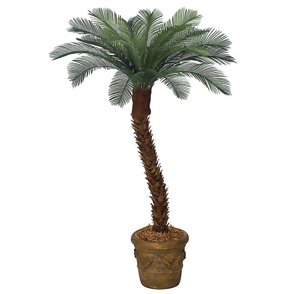 5 foot Artificial Outdoor Cycas Palm with 18 Fronds & Polyblend Trunk AP-01615