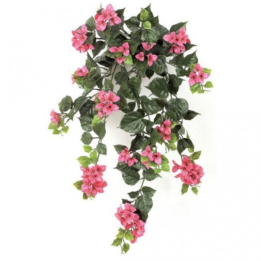 36 inch artificial outdoor fuchsia bougainvillea flowers: unpotted