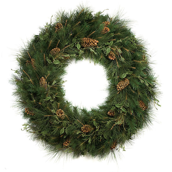 Information about Pe Pvc Mixed Sugar Pine Wreath Product Photo