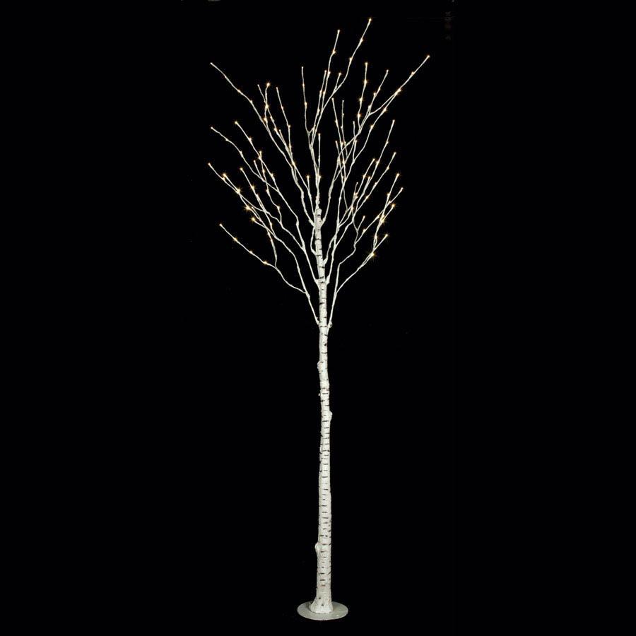 8 foot LED Birch Tree: 144 White LED Lights