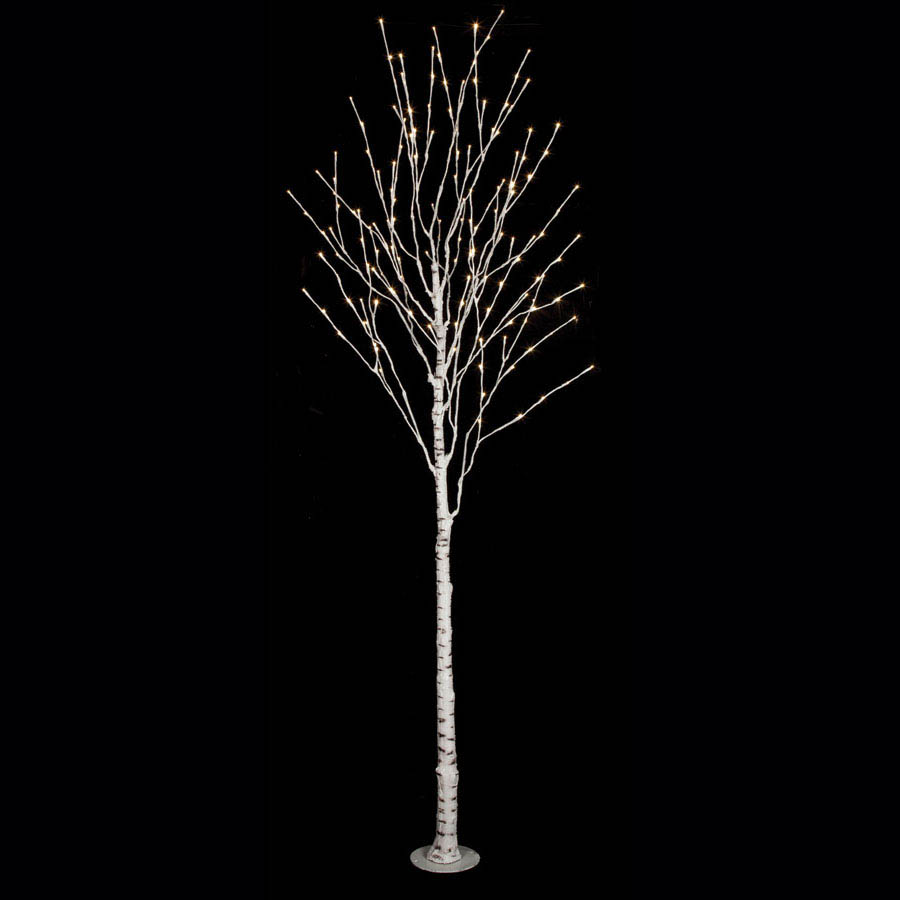 10 foot LED Birch Tree: 160 White LED Lights