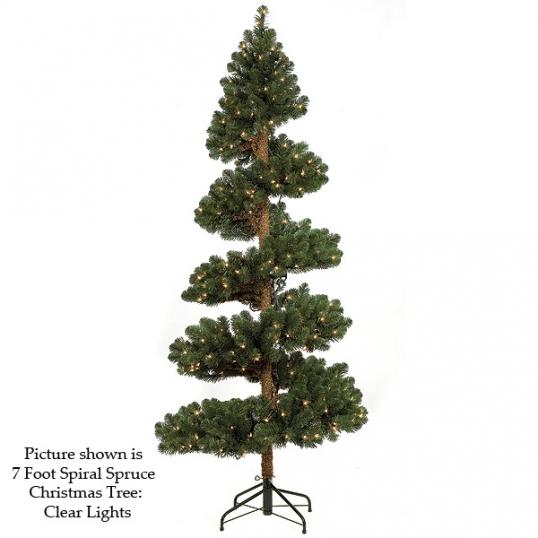 slim logo 7 foot spiral spruce christmas tree unlit