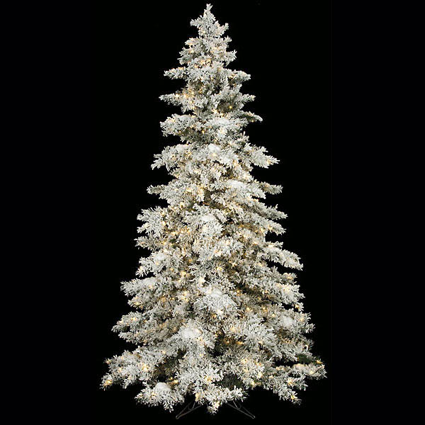 Remarkable Heavy Flocked Snow Tree Clear Leds Product Photo