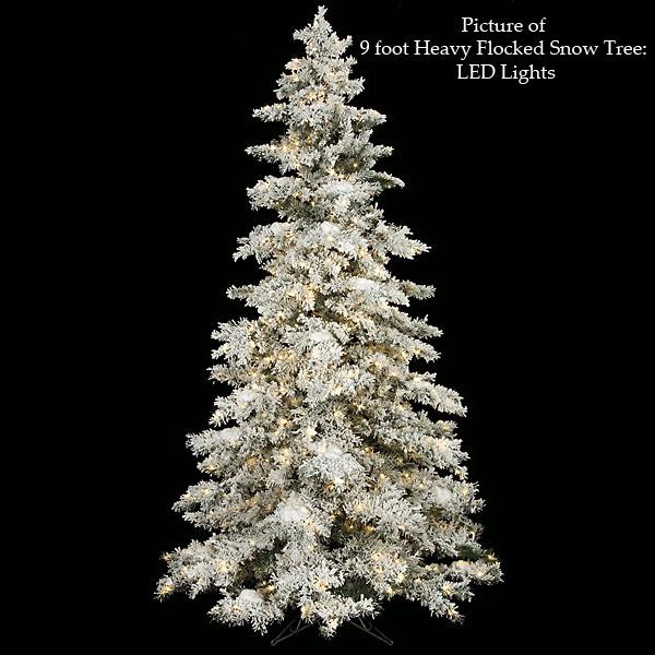 Heavy flocked snow tree agf3065