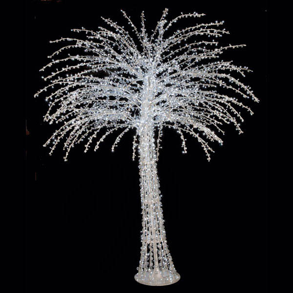 10 Foot Acrylic Tree W/ Shapeable Branches: Remote Controlled Multi-colored Leds