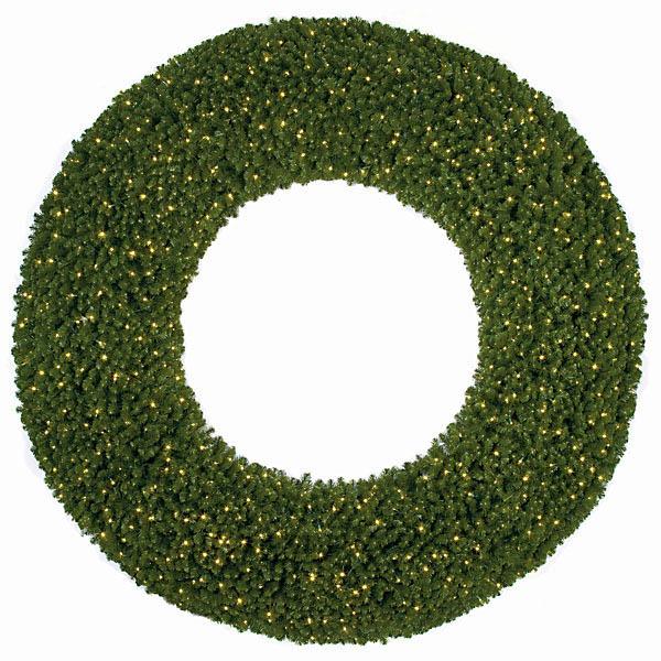 Impressive Commercial Pine Wreath Unlit 2 2324
