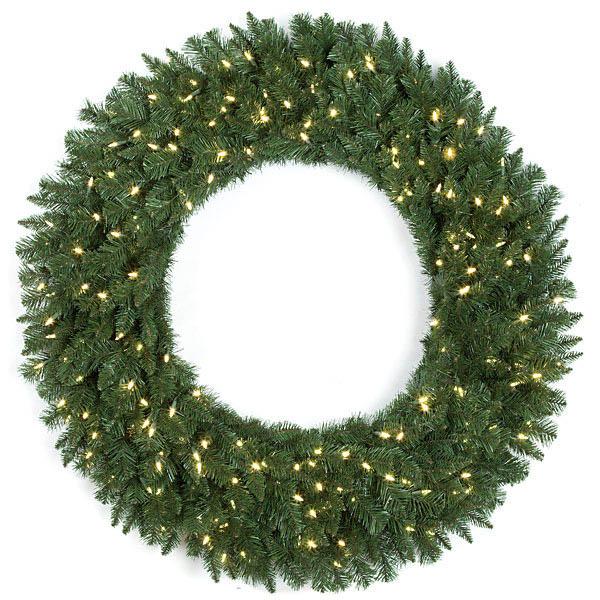 60 inch Monroe Pine Wreath: Clear LEDs C-130484