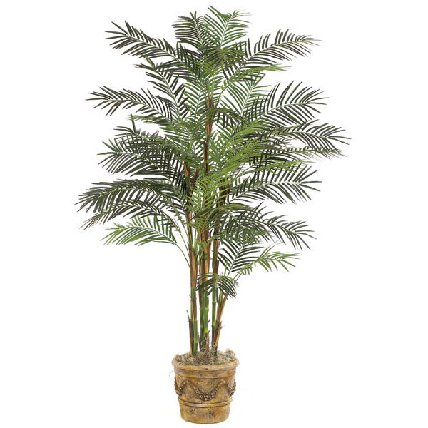 Cheap Artificial Deluxe Reed Palm Tree Potted Product Photo