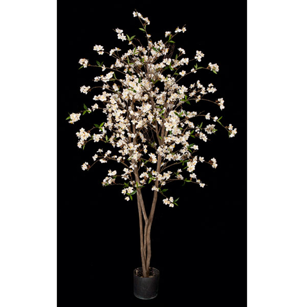 5 Foot Artificial Cream Cherry Blossom Tree Potted