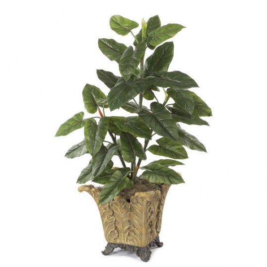4 foot artificial emerald philodendron plant: potted | p-3456