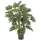 40 inch Artificial Selloum Philodendron Plant: Potted