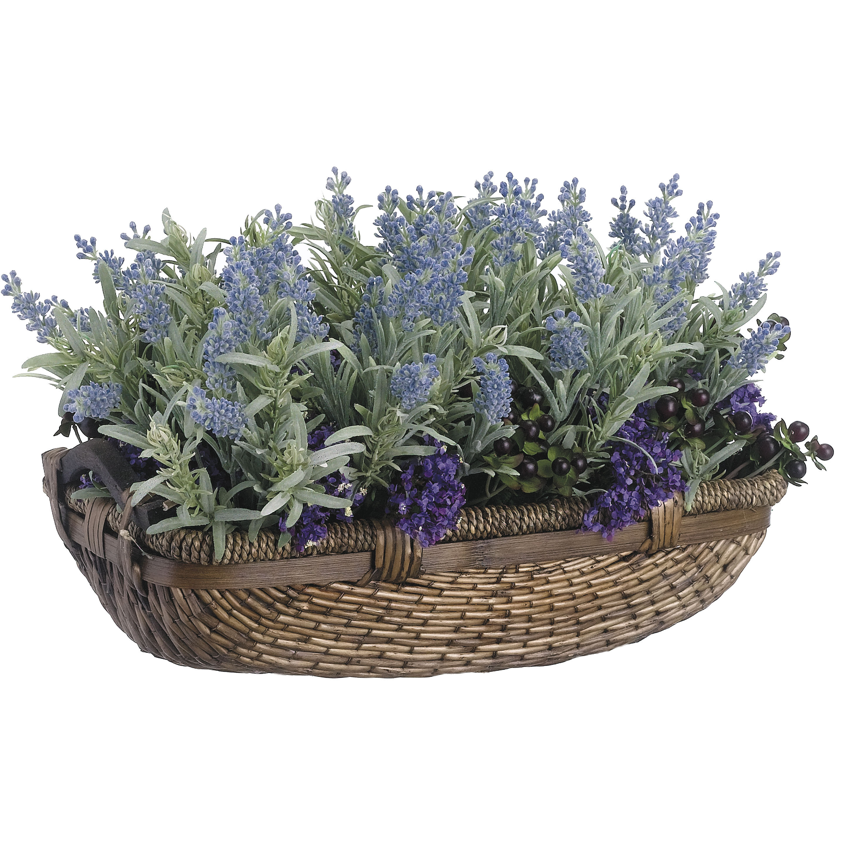 11 Inch Mixed Lavender & Rosemary Arrangement In Basket