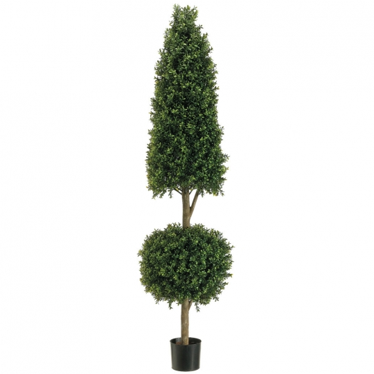 Slim Logo 6 Foot Cone And Ball Boxwood Topiary Limited Uv