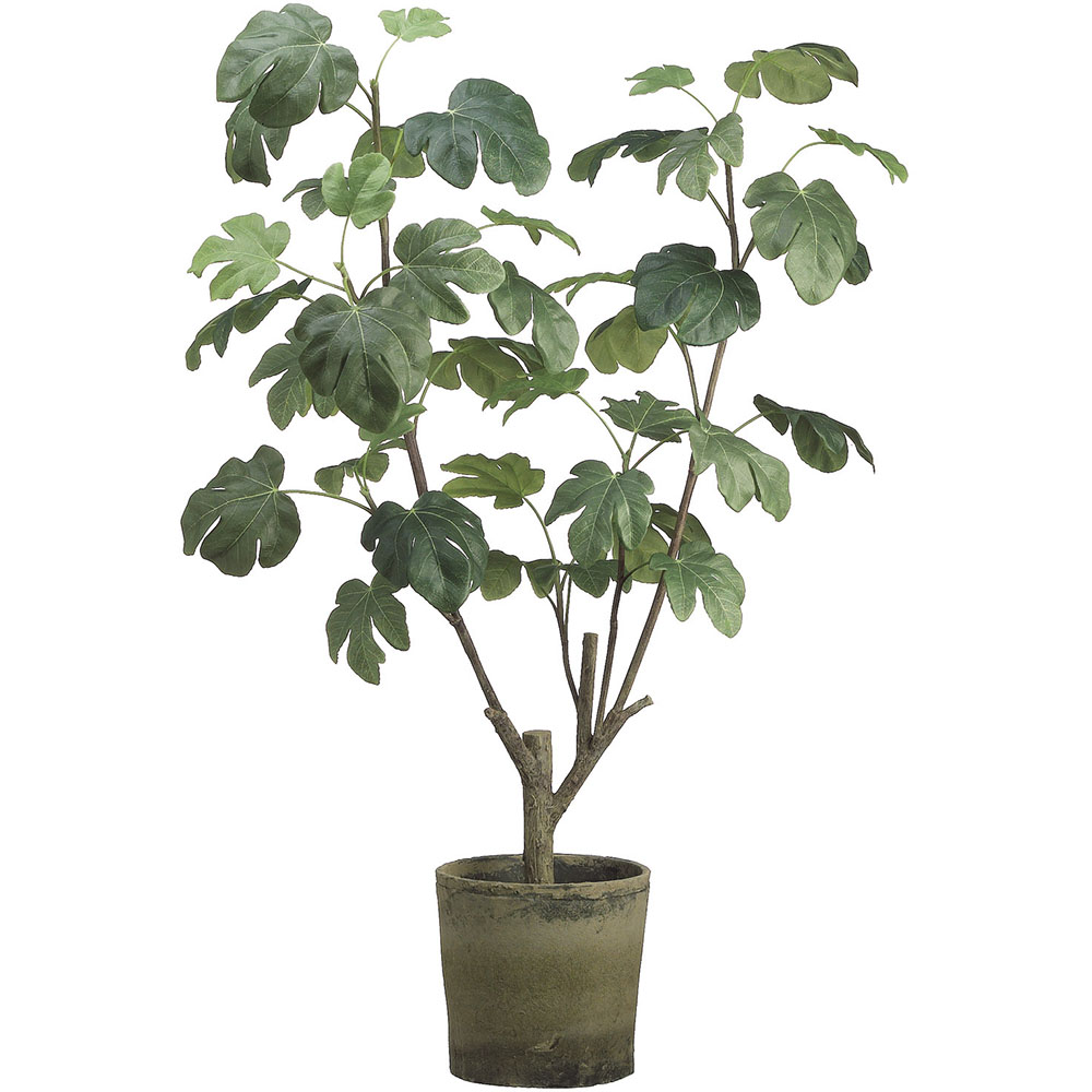 4 Foot Artificial Fig Plant In Clay Pot