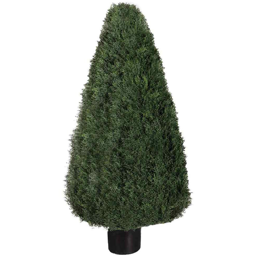 54 Inch Uv Protected Pond Cypress Cone Topiary: Potted