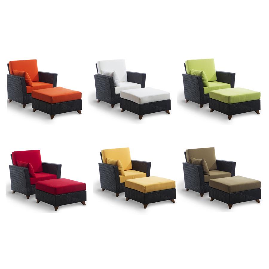 Optimal Rattan Deep Chair Ottoman Set Product Photo