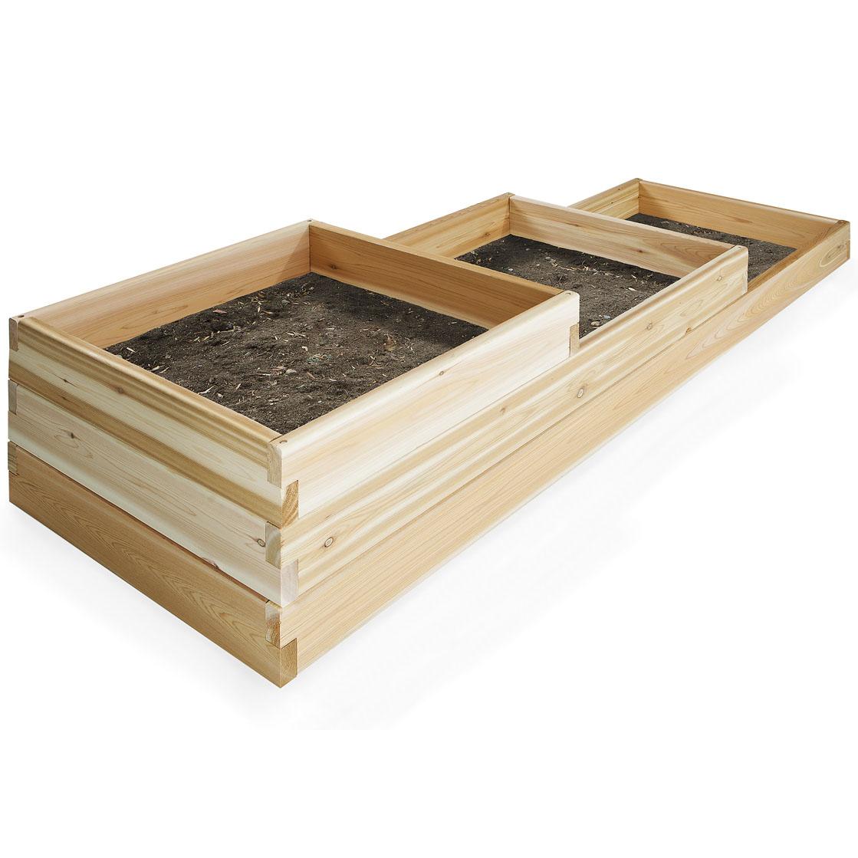 Money saving Cedar Tiered Garden Box Product Photo