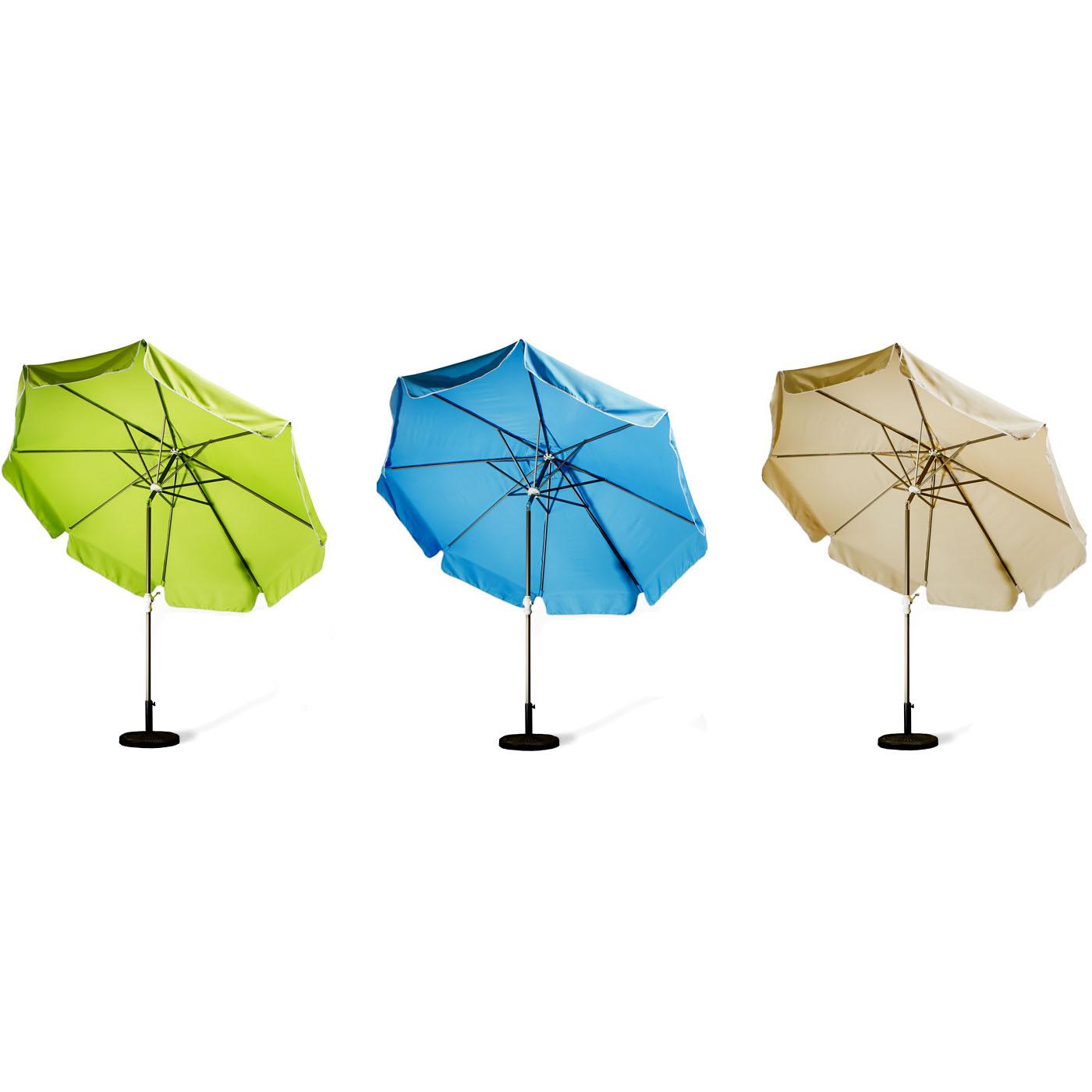 10 Foot Aluminum Tilt Patio Umbrella (tan, Blue Or Lime)