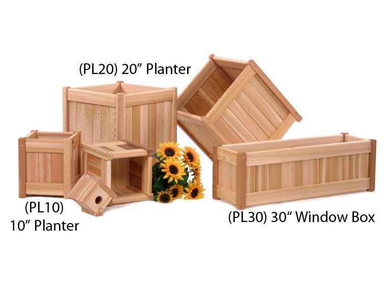 Cedar 10 Inch Planter Box