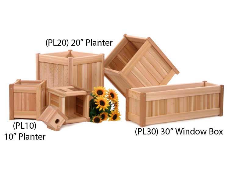 Cedar 20 Inch Planter Box