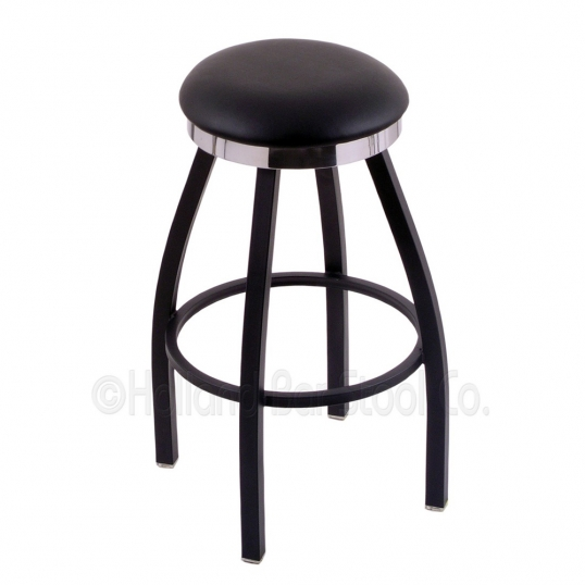Holland Bar Stool Co 25 Inch Black Swivel Counter Stool With