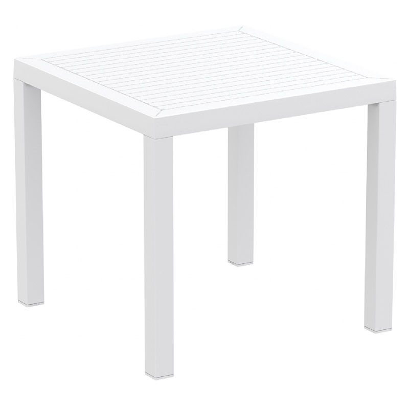 Trustworthy Ares Resin Square Dining Table Product Photo
