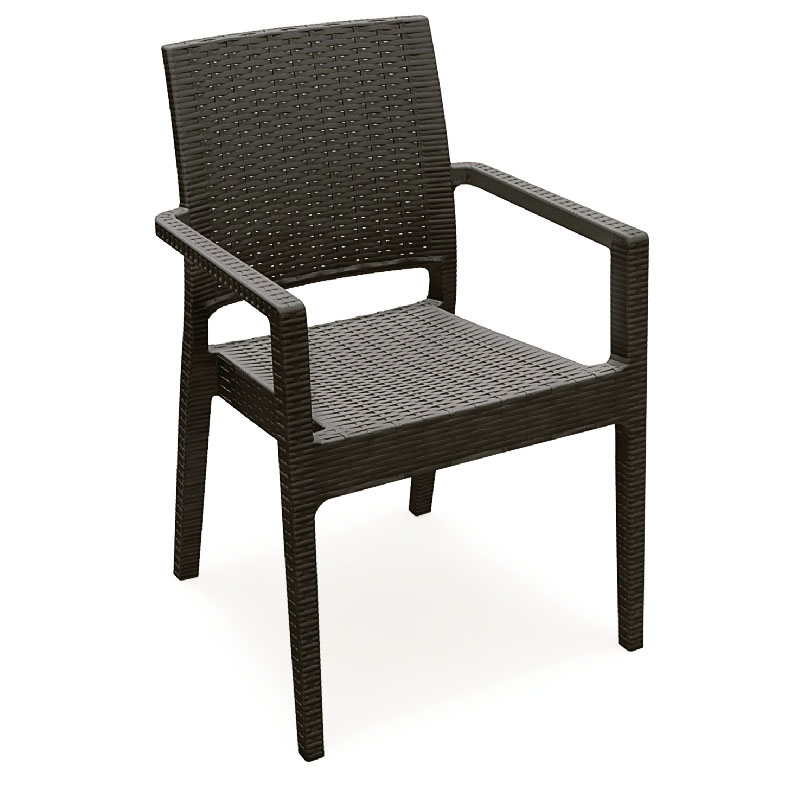 Beautiful Wickerlook Stackable Dining Armchair  Product Photo