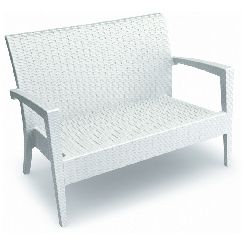 Special Miami Stackable Resin Loveseat Product Photo