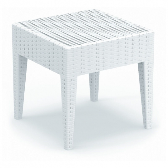 Slim Logo; Miami Square Resin Side Table