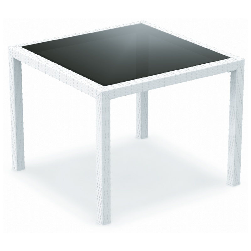 Tasteful Miami Wickerlook Square Dining Table Product Photo