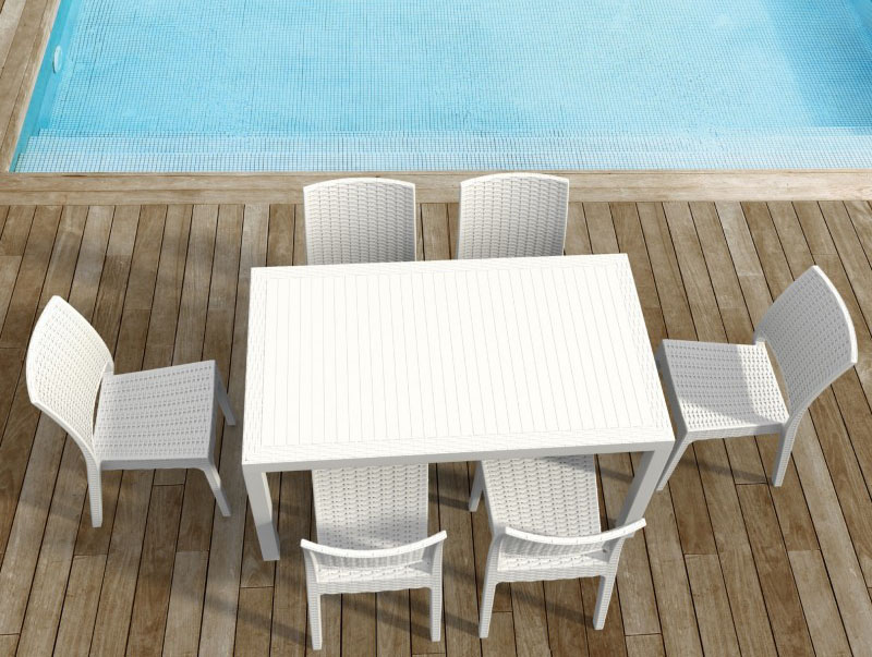 Purchase Orlando Wickerlook Rectangle Dining Set Product Photo